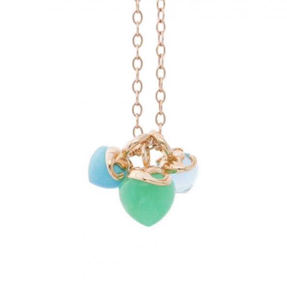 Halskette Infinity Aqua